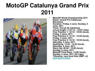 watch catalunya grand prix 2011 motogp championship final ra