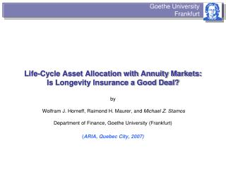 Life-Cycle Asset Allocation with Annuity Markets: Is ...