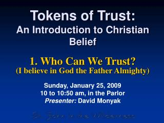 Tokens of Trust: An Introduction to Christian Belief