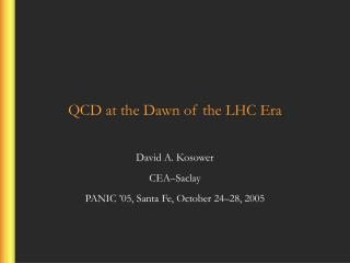 QCD at the Dawn of the LHC Era