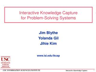 Interactive Knowledge Capture for Problem-Solving Systems