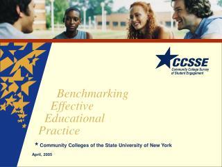 Benchmarking Effective Educational Practice
