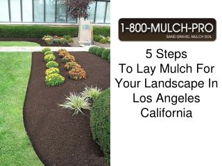 how to lay mulch for your landscape in los angeles californi