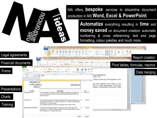 Word | Excel | PowerPoint |- BESPOKE SERVICES