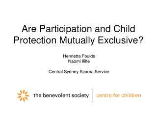 Are Participation and Child Protection Mutually Exclusive