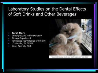 Laboratory Studies on the Dental Effects of Soft Drinks and ...