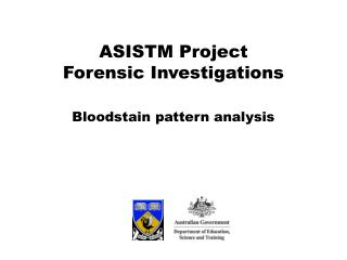 Bloodstain pattern analysis