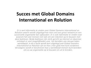 succes met global domains international en rolution