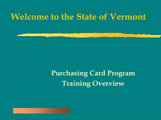 Welcome to the State of Vermont