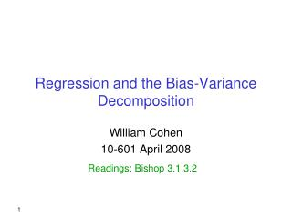 Regression and the Bias-Variance Decomposition