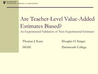 Are Teacher-Level Value-Added Estimates Biased An Experimental ...