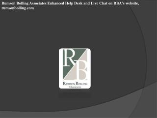 Rumson Bolling Associates Enhanced Help Desk and Live Chat o