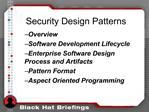 Security Design Patterns