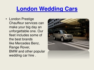 London Wedding Cars