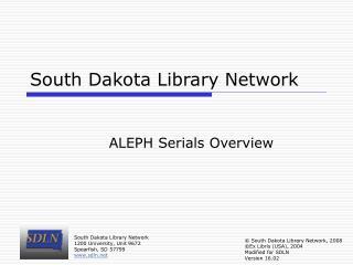 South Dakota Library Network