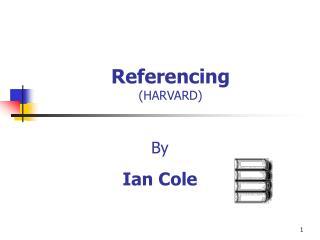 Referencing HARVARD