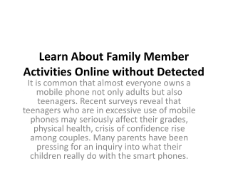 Learn Children Activities Online without Detected