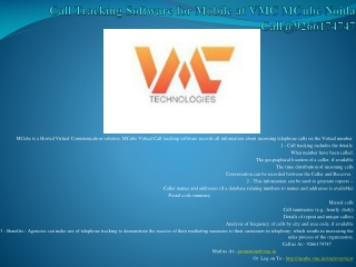 Call Tracking Software for Mobile at VMC MCube Noida