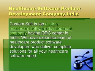 healthcare software development company in india