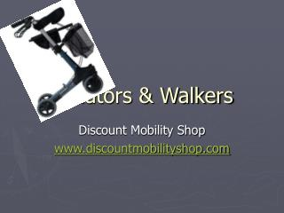 4 wheel mobility walkers and rollators