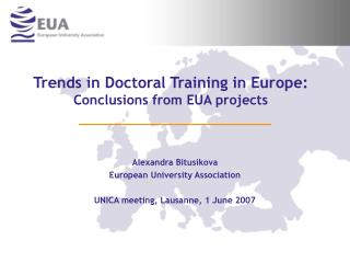 Trends in Doctoral Training in Europe: Conclusions from EUA ...