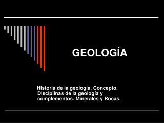 presentación geología