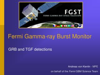 Fermi Gamma-ray Burst Monitor