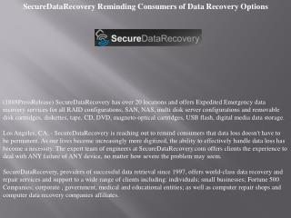 securedatarecovery reminding consumers of data recovery opti