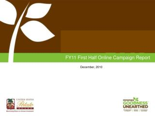 FY11 First Half Online Campaign Report