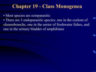 Chapter 19 - Class Monogenea