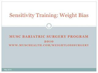 Sensitivity Training: Weight Bias