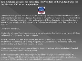 paul chehade declares his candidacy for president of the uni