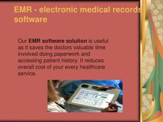 emr software development | electronic medical records