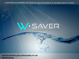 w-saver :: ahorro de agua