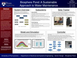Biosphere Pond: A Sustainable Approach to Water Maintenance