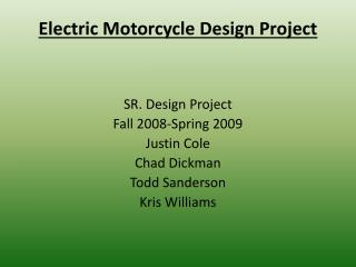 Electric Motorcycle Design Project