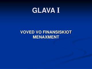 GLAVA I