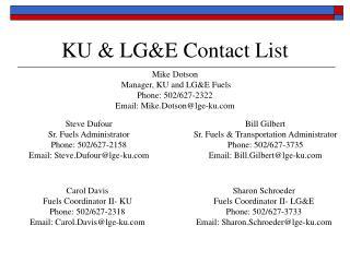 KU  LGE Contact List
