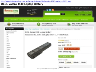 DELL Vostro 1510 Laptop Battery