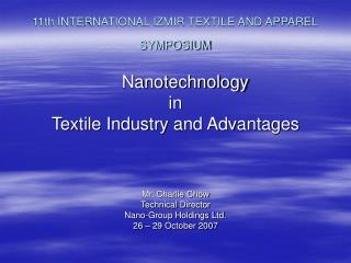 11th INTERNATIONAL IZMIR TEXTILE AND APPAREL SYMPOSIUM