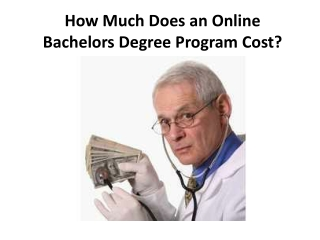 Cost Of Online Degrees