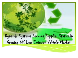 Dynamic Systems Secures Supplier Status in Growing UK