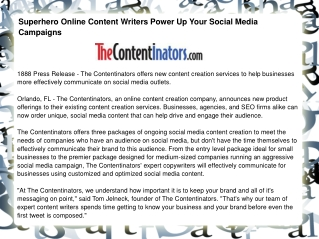 Superhero Online Content Writers Power Up Your Social Media
