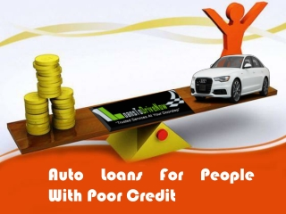 How To Apply For Auto Loans For People With Poor Credit