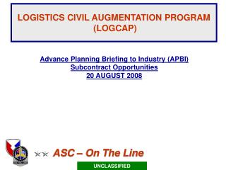 LOGISTICS CIVIL AUGMENTATION PROGRAM LOGCAP