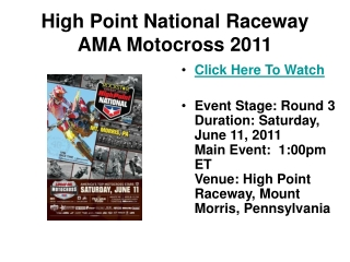 watch high point national raceway ama motocross series race