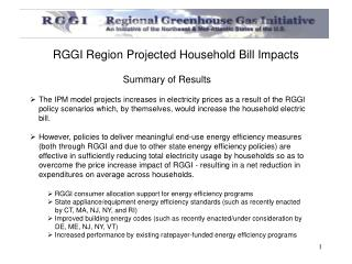 RGGI Region Projected Household Bill Impacts