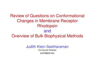 Review of Questions on Conformational Changes in Membrane ...