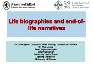 Life biographies and end-of-life narratives