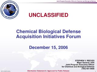 Chemical Biological Defense Acquisition Initiatives Forum